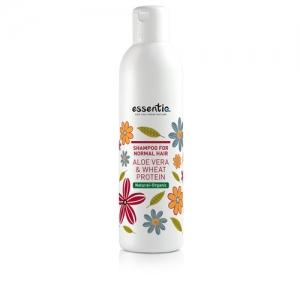 Shampoo for Normal Hair - Aloe vera & Wheat protein - Essentiq
