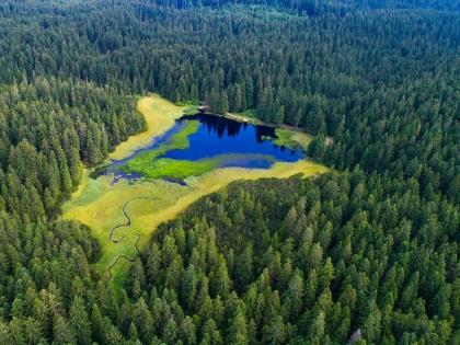 Lake Crno jezero on Pohorje hills (www.slovenia.info Photo by Jošt Gantar)